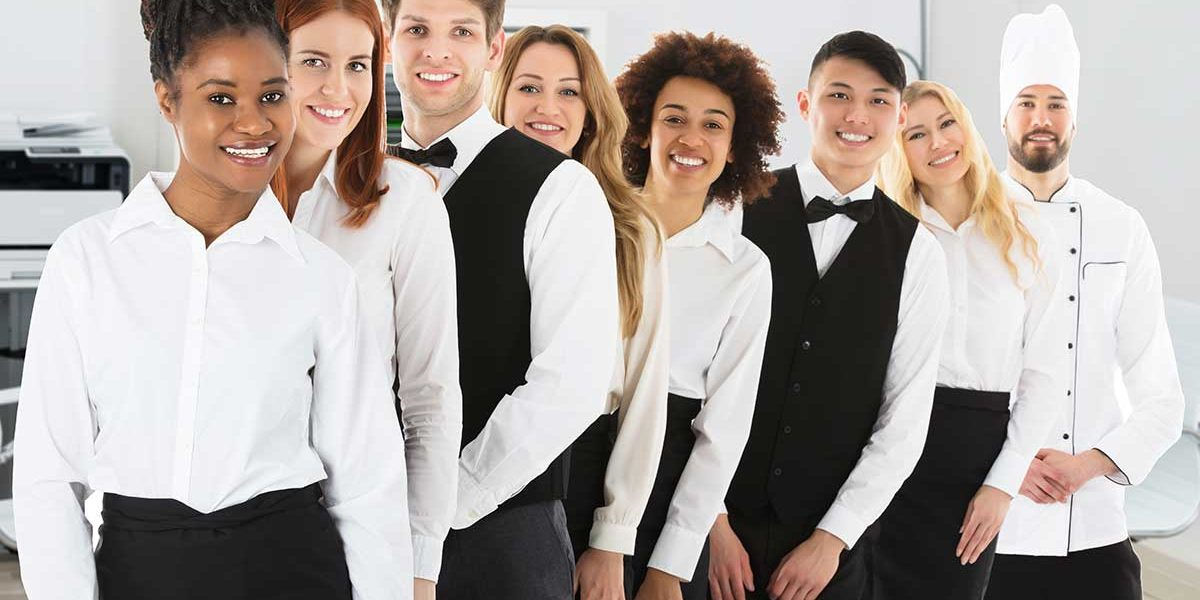 group of hospitality workers